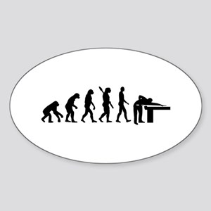 Evolution Billiards Sticker (Oval)
